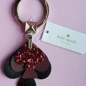 NWT Kate ♠️ Stacked Keychain